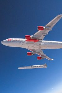 VOX Space's LauncherOne takes off from a 747 aircraft. (Virgin Orbit)
